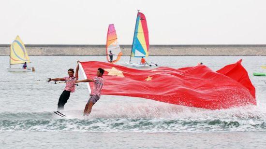 2017上海旅游节第三届碧海金沙沙滩滑水节暨2017索道滑水世界杯(上海